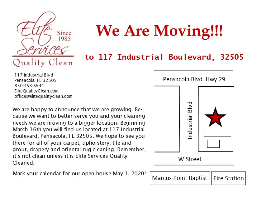 We've moved to 117 Industrial Blvd Pensacola FL 32505