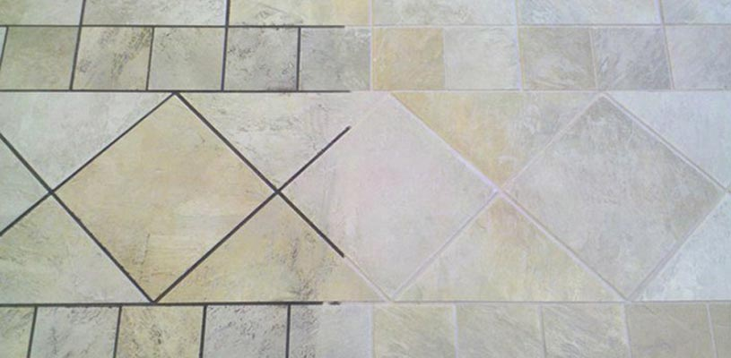 how to clean and seal grout floor